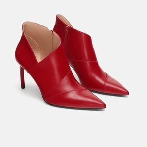 Zara red stiletto booties. NWT